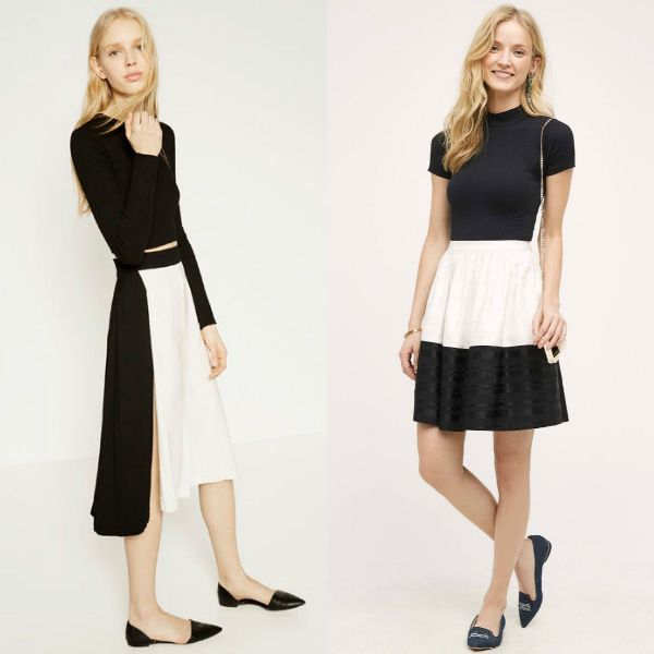 Trendy skirts 2018 | Black and white skirt