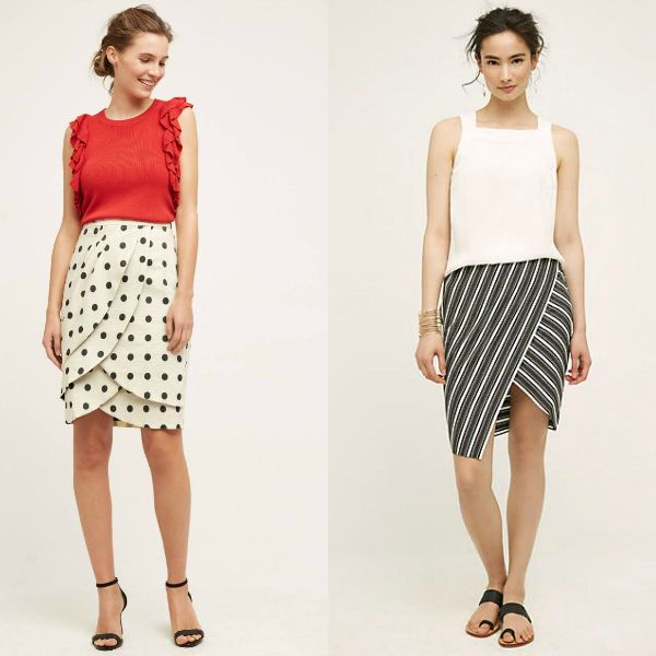 Trendy skirts 2017 | Black and white skirt
