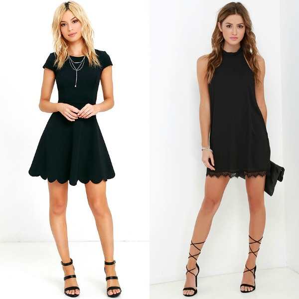 Black club dresses for women