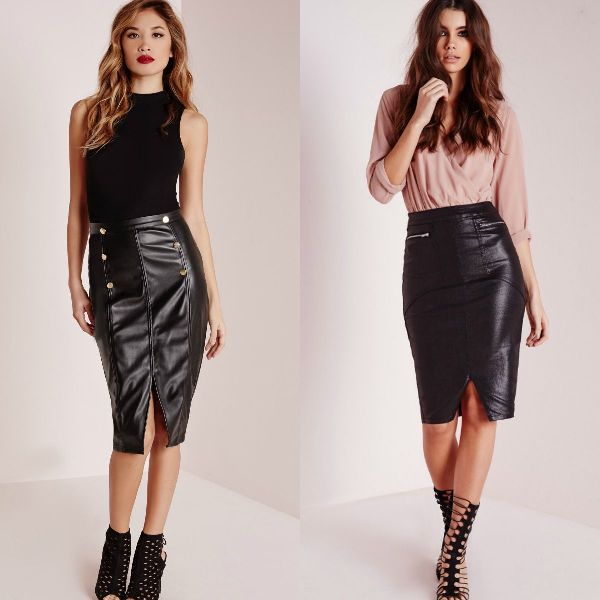 Pencil black skirt