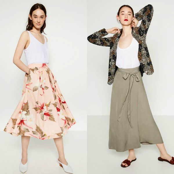 Midi casual summer trendy skirts 2017