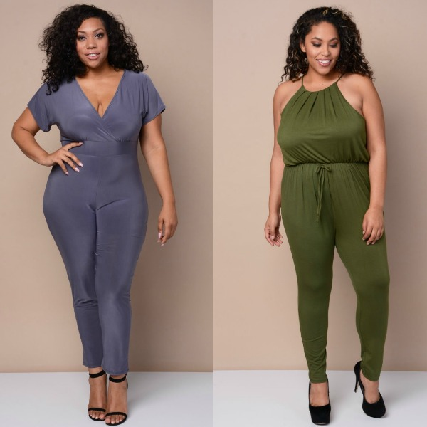 Plus size clubbing outfit ideas with club jumpsuits