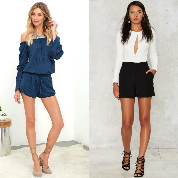 Summer clubbing outfits with short rompers