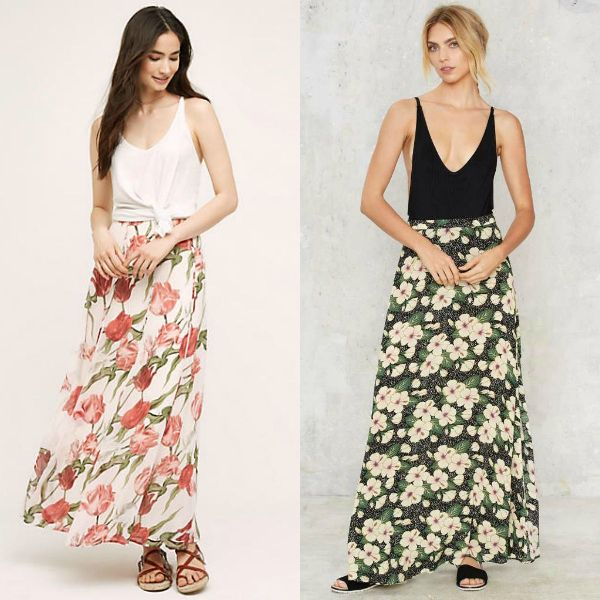 Trendy skirts 2017 | Floral skirts