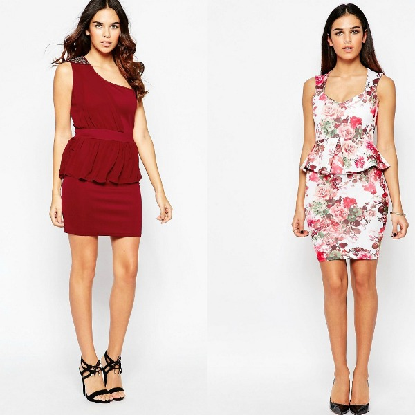 Mini peplum dresses