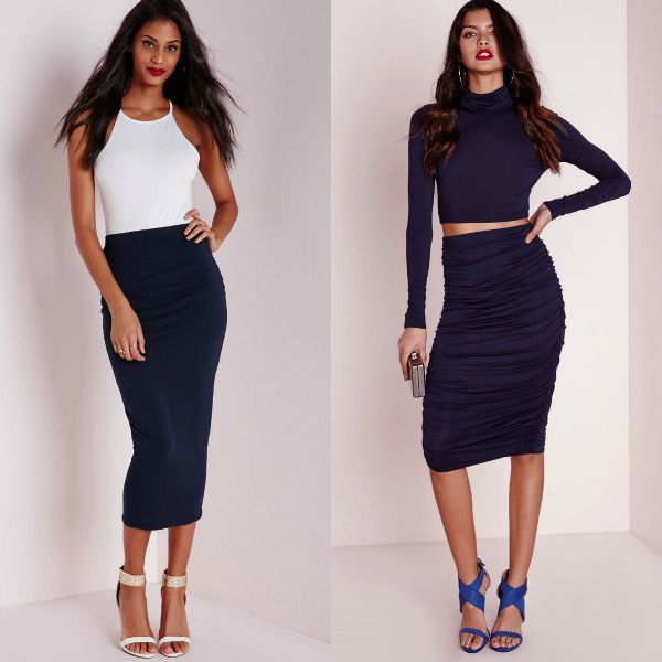 Trendy skirts 2018 | Navy skirt
