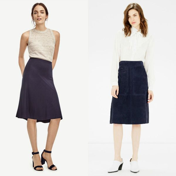 Trendy skirts 2017 | Navy skirt