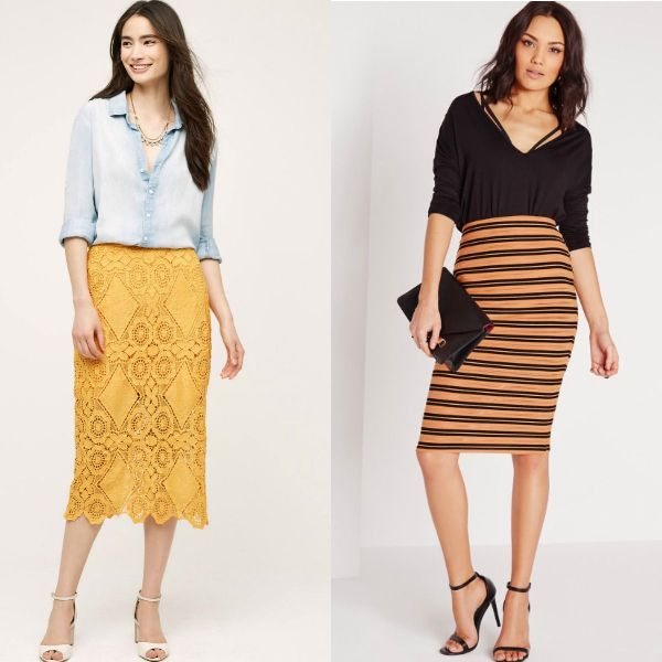Trendy skirts 2017 | Pencil skirts outfits