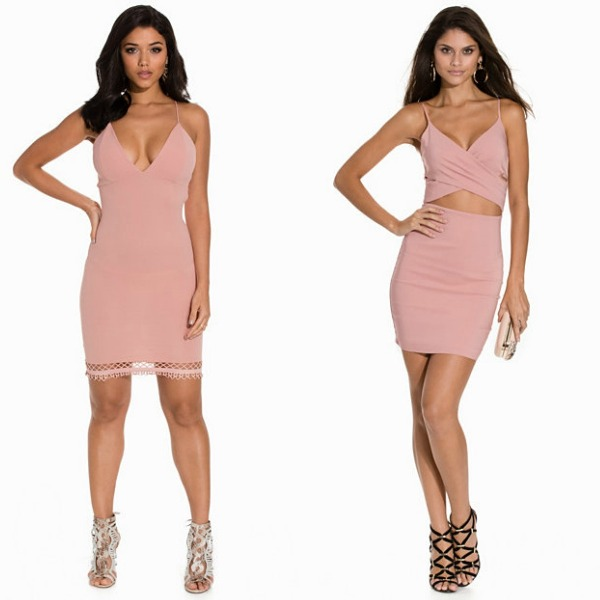 Pink dress for a night club