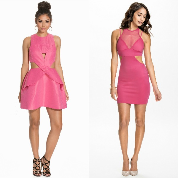 Short pink dress for club