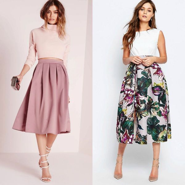 Trendy skirts 2017 | Pleated a line midi skirt
