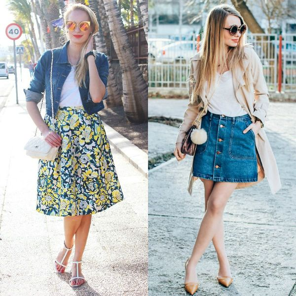 Summer outfits for school with skirts