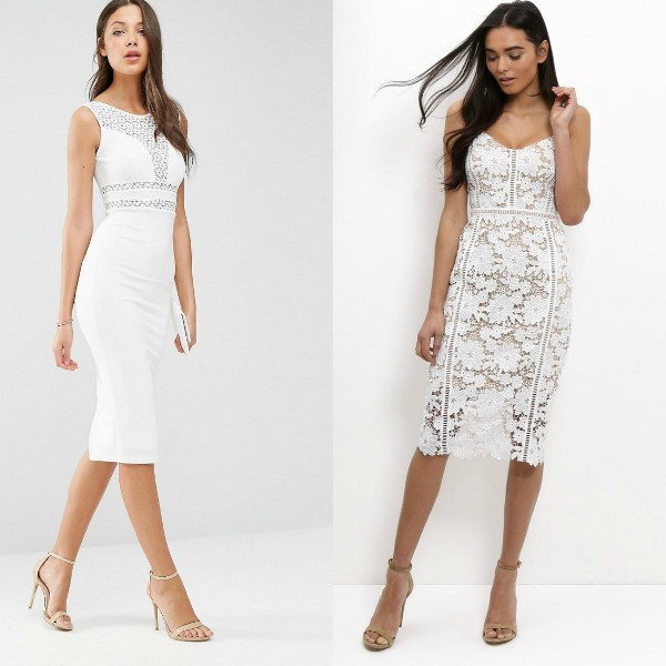 Bodycon white dress for night club outfits