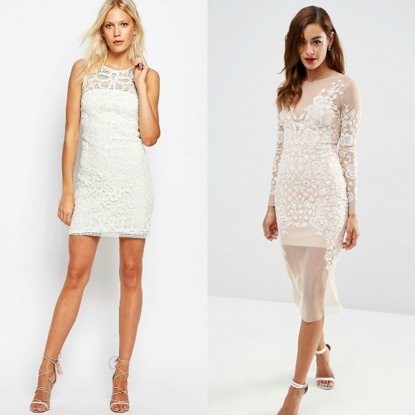 Club outfits with white dresses