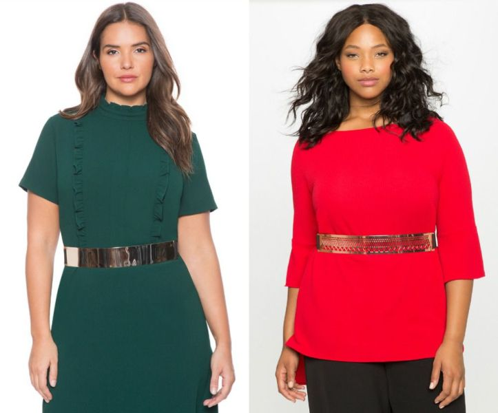 Plus size outfits with belts for plus size women