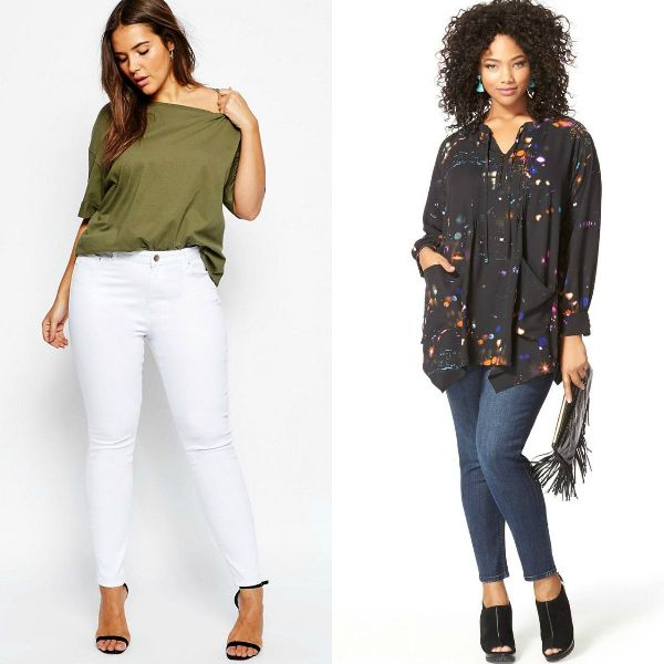 Plus size outfits with plus size jeans