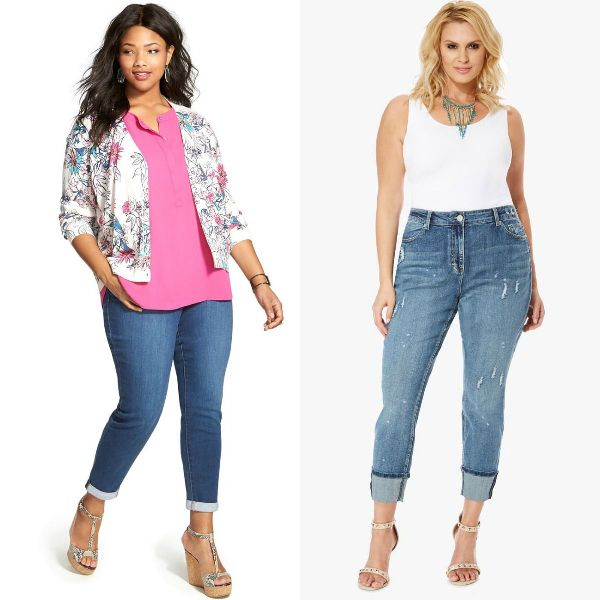 Plus size outfits with jeans for plus size