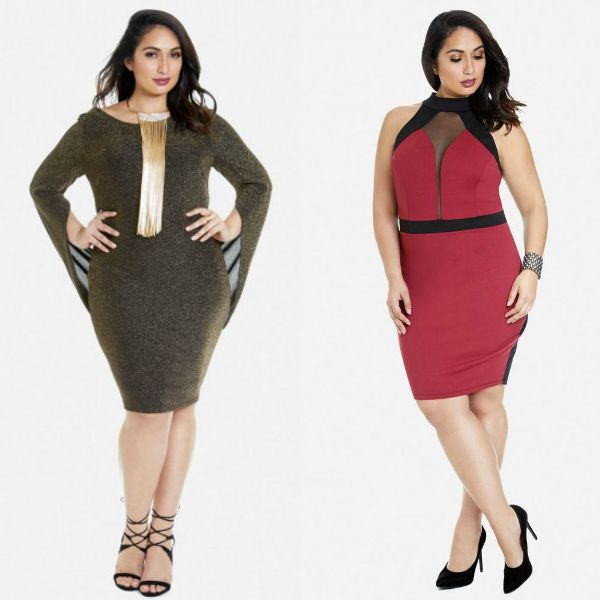 Plus size outfits with bodycon dresses