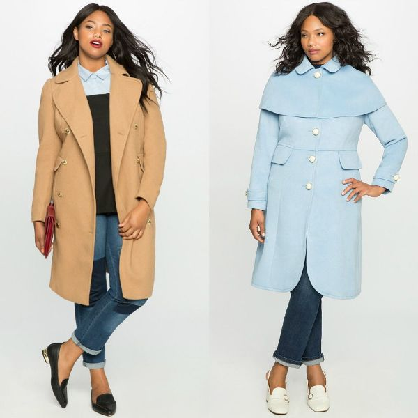 Plus size outfits with wool coat for women