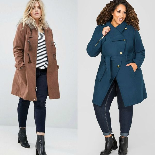 Plus size outfits with winter coats for women