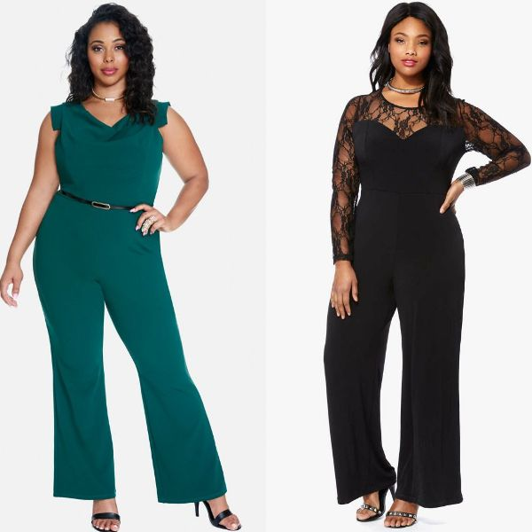 Plus size outfits with women's rompers