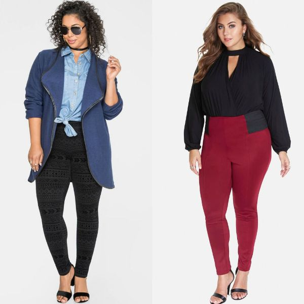Outfits with plus size leggings for women