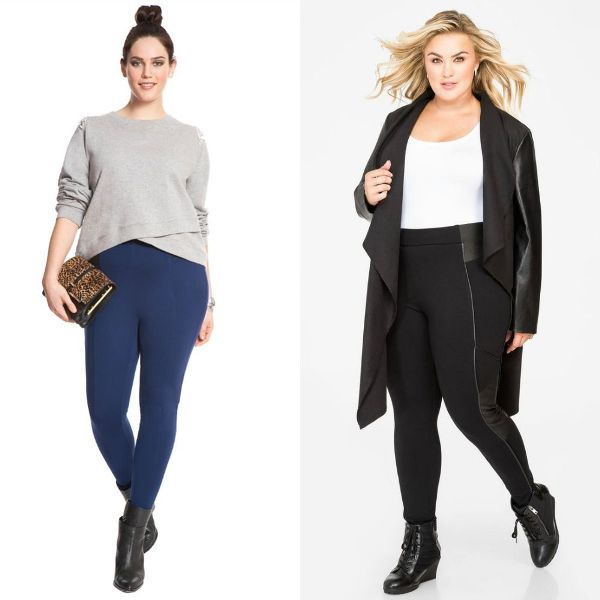 Plus size outfits leggings for women