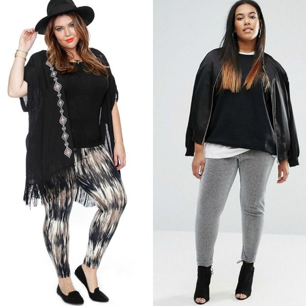 Plus size outfits with fashion leggings