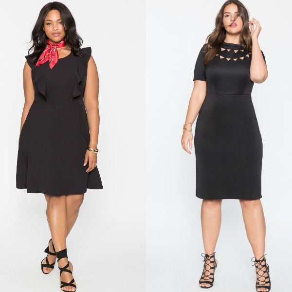 Plus size dresses | Plus size black cocktail dresses