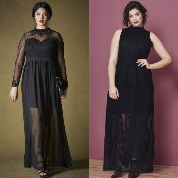 Plus size dresses | Plus size black maxi dress