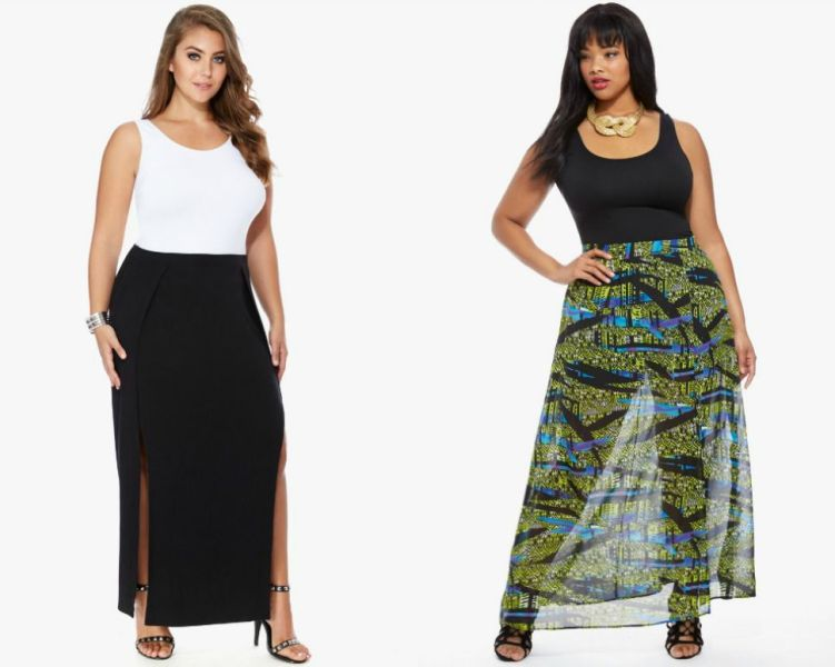 Plus size outfits with long skirts for women