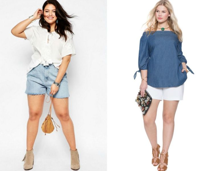 Spectacular plus size short outfits for women