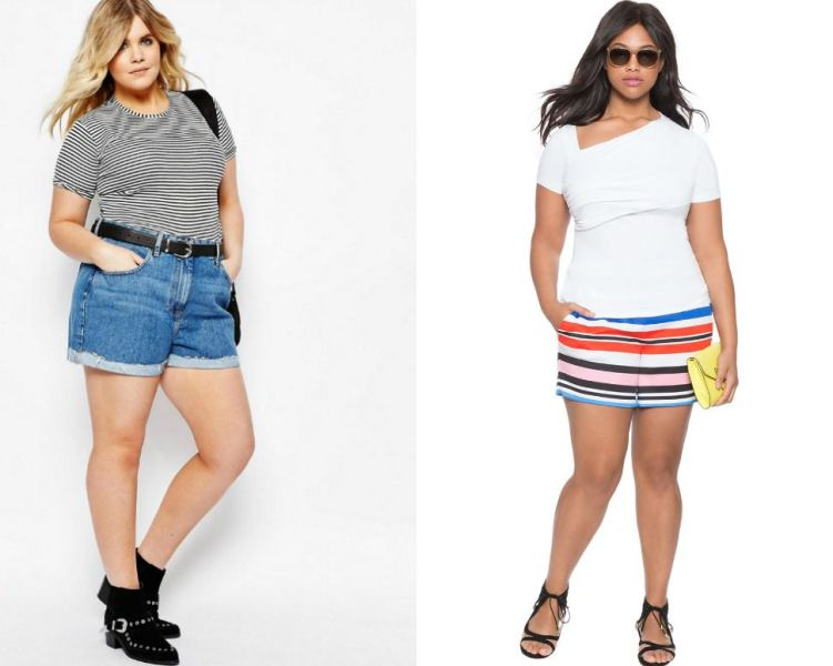 Plus size outfits with shorts