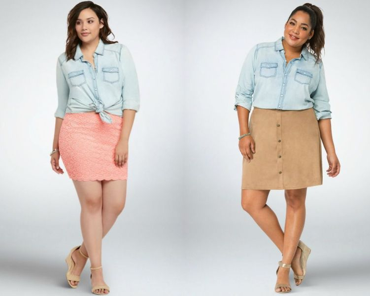 Plus size outfits with short skirts
