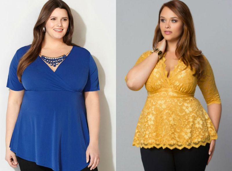Plus size outfits with tops for plus size