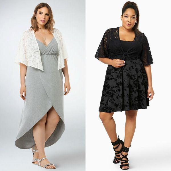 Shrugs for plus size outfits