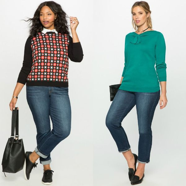 Plus size outfits with sweaters for women
