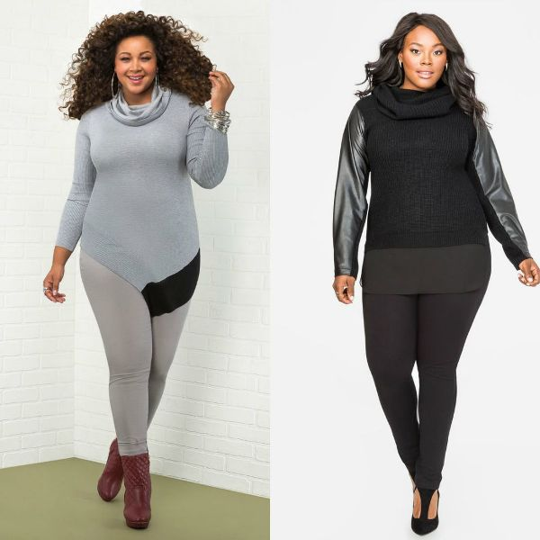 Plus size outfits with sweaters