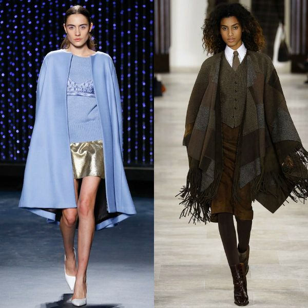 Fall-winter 2016-2017 trendy coats | Cape and poncho trench coats
