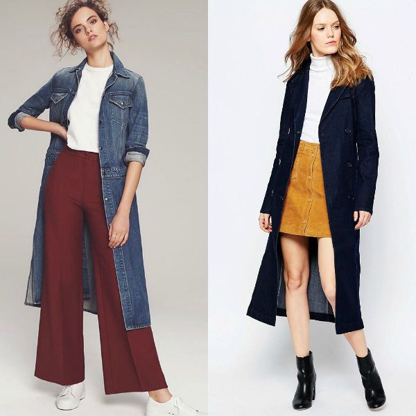 Fall-winter 2016-2017 trendy coats | Denim trench coats