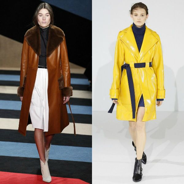 Fall/Winter 2017-2018 trendy coats made of leather