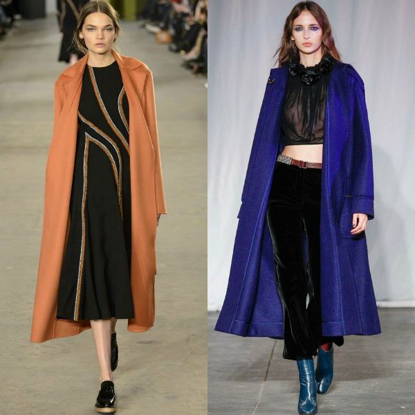 Fall-winter 2016-2017 trendy coats | One color coats