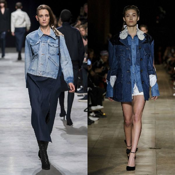 Fall-winter 2016-2017 trendy denim jacket