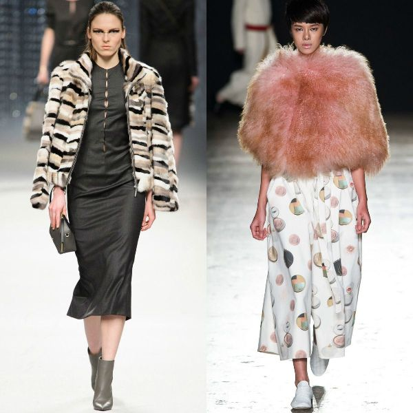 Fake fur trendy jackets
