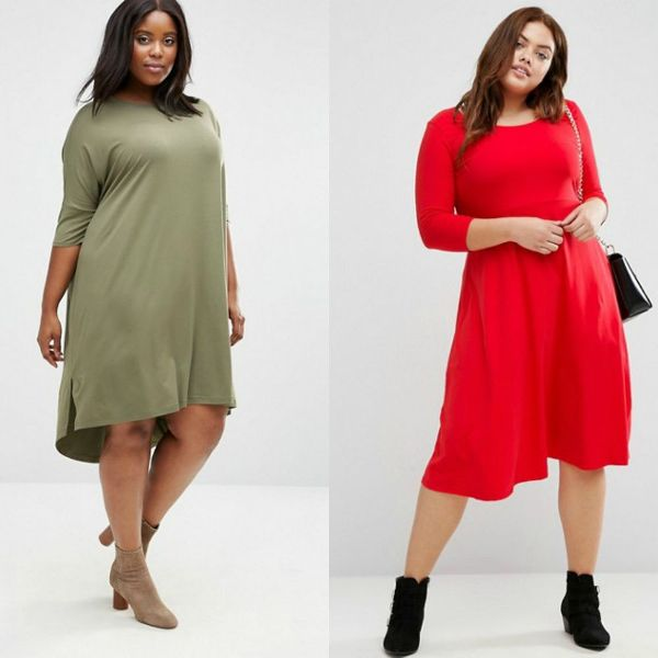 Plus size dresses | Long sleeve gowns