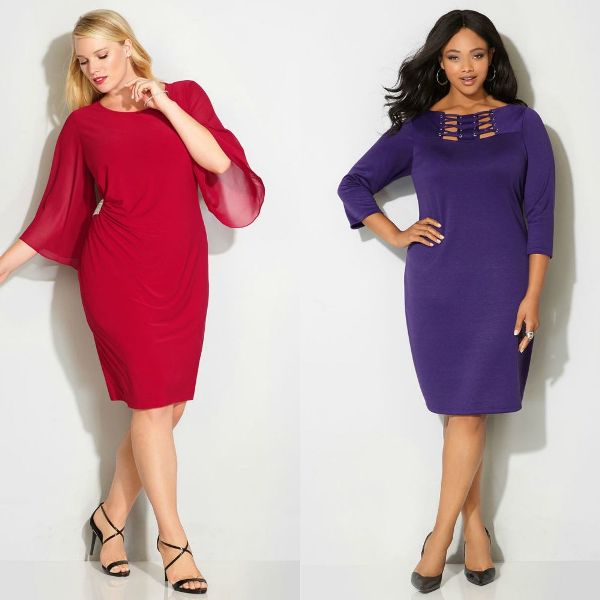 Plus size dresses | Long sleeve evening gowns