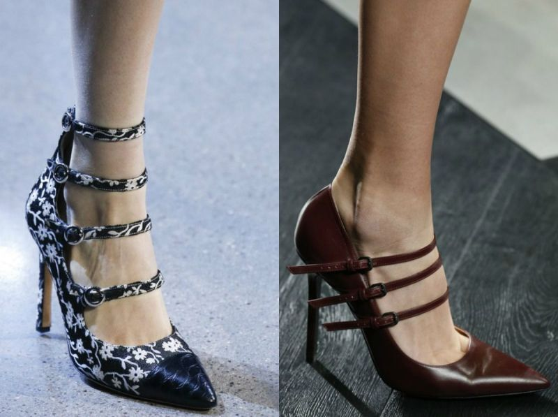 Footwear with straps for ladies