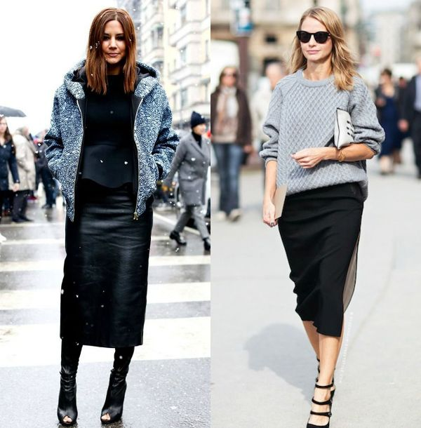 Try this pencil skirt outfits when is rainy or cold outside