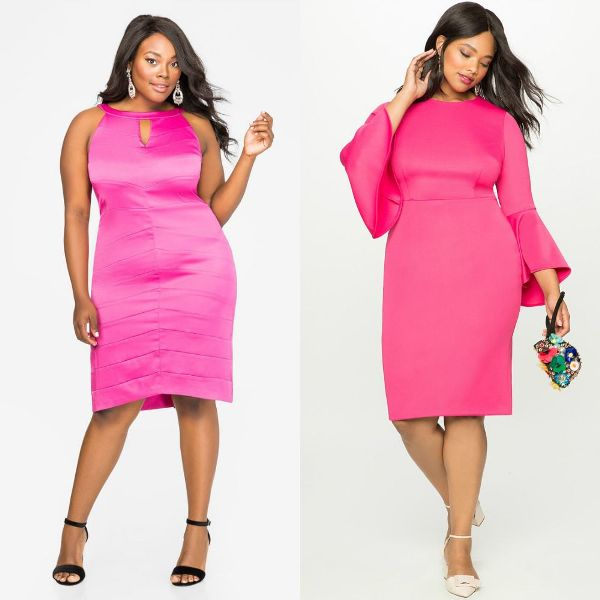 Plus size dresses | Pink plus size dresses