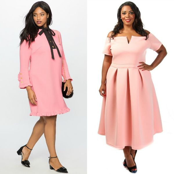 Plus size dresses | Pink dress